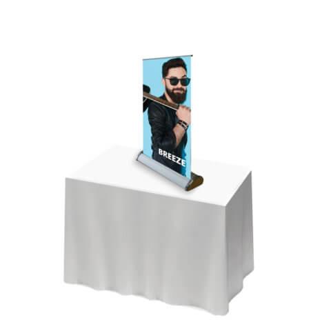 Breeze Desktop banner - promotional banner stand