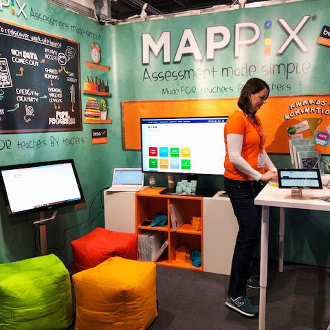 Vbanner for Mappix on shell scheme at an exhibition