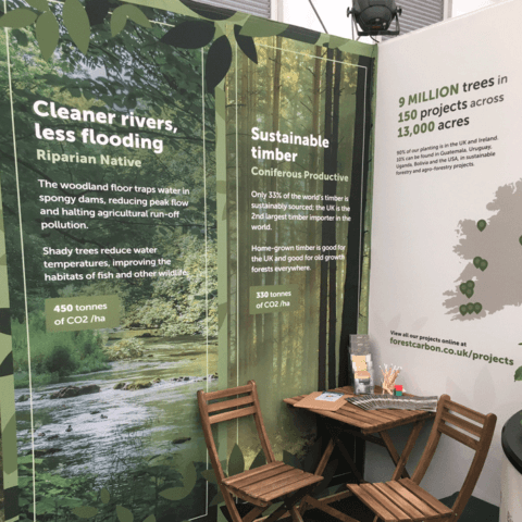 ShellScape fabric on a shell scheme for Forest Carbon at the Chelsea Flower Show