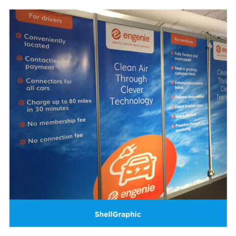 Shellgraphic panels for Engenie at an exhibition