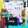 Squelch Wellies using ShellGraphic at a trade show
