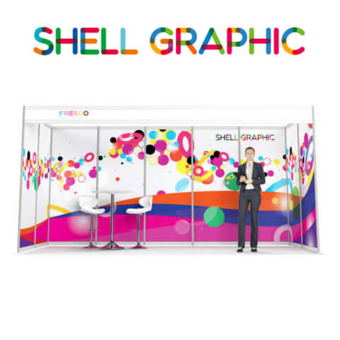 ShellGraphic 3D Illustration of a 5x2 shell scheme