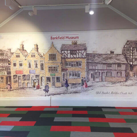 WallTex graphic on Bankfield Museum wall