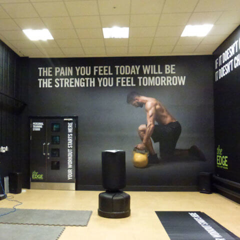 Wall Guard High performance wear graphic at Leeds University