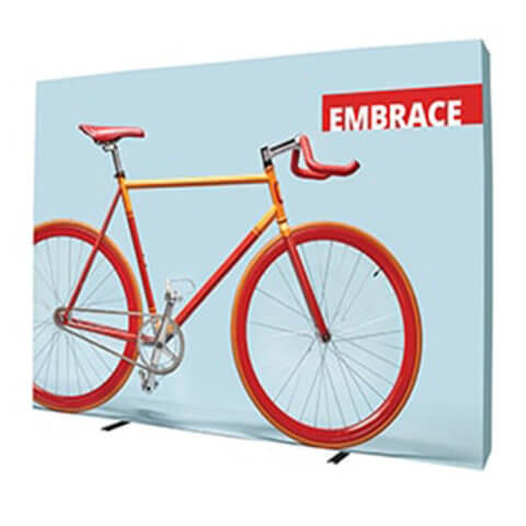 Embrace fabric pop-up 1x3 Display 4x3 Display with Bicycle Image