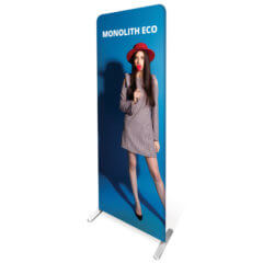 Formulate Monolith Eco Display image of girl in red hat