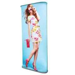 Formulate Monolith LED display with image of girl