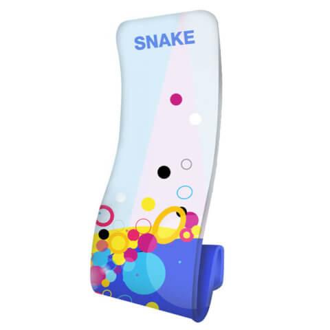 Formulate Snake Fabric Display with Fresco Branding