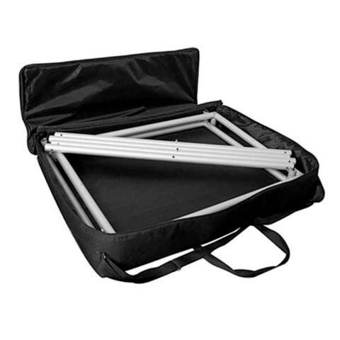 Formulate tubular framework in the carry bag