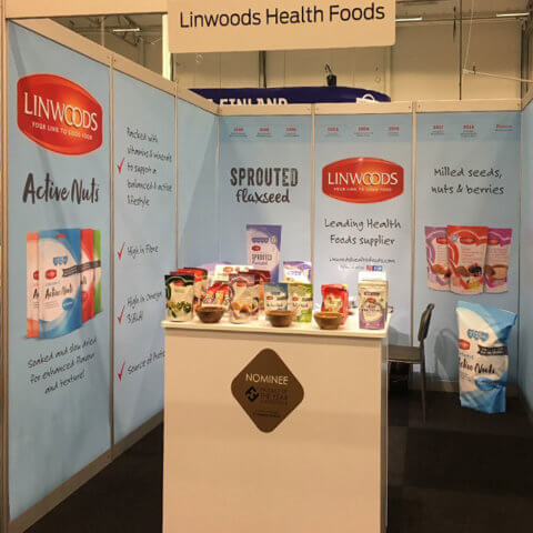 ShellGraphic used by Linwoods at a trade show