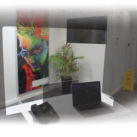 image of Premium Acrylic Screen on an office desk