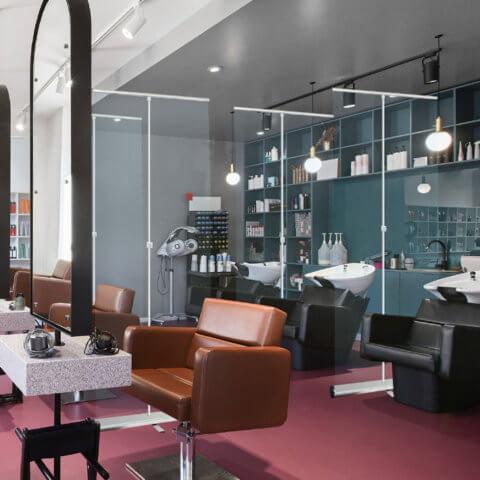 clear retractable screens in salon