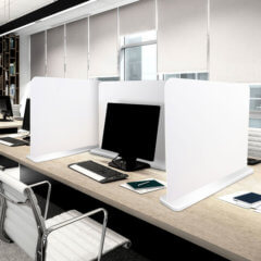 image of Free-standing Desk Divider in office