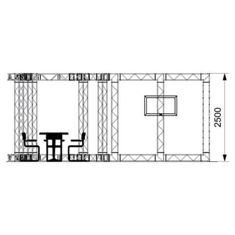 front elevation diagram of gantry kit 2