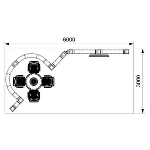 plan view diagram of gantry kit 2