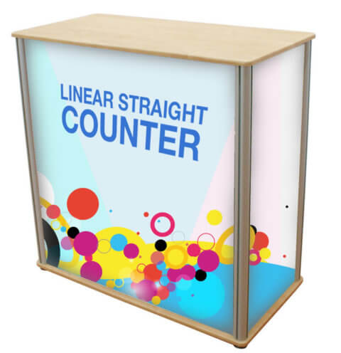 image of a linear straight counter