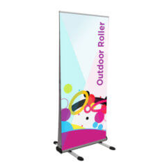 Image of outdoor roller banner stand