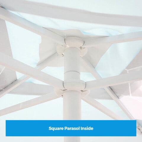 Square Parasol Inside
