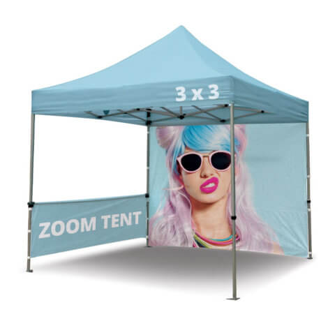 Zoom Tent Frame with half and full wall